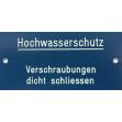 Hinweisschild (Blau / Weiss)