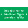 Hinweisschild (Grün / Weiss)