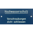 Plaquette indicatrice (bleu / blanc)